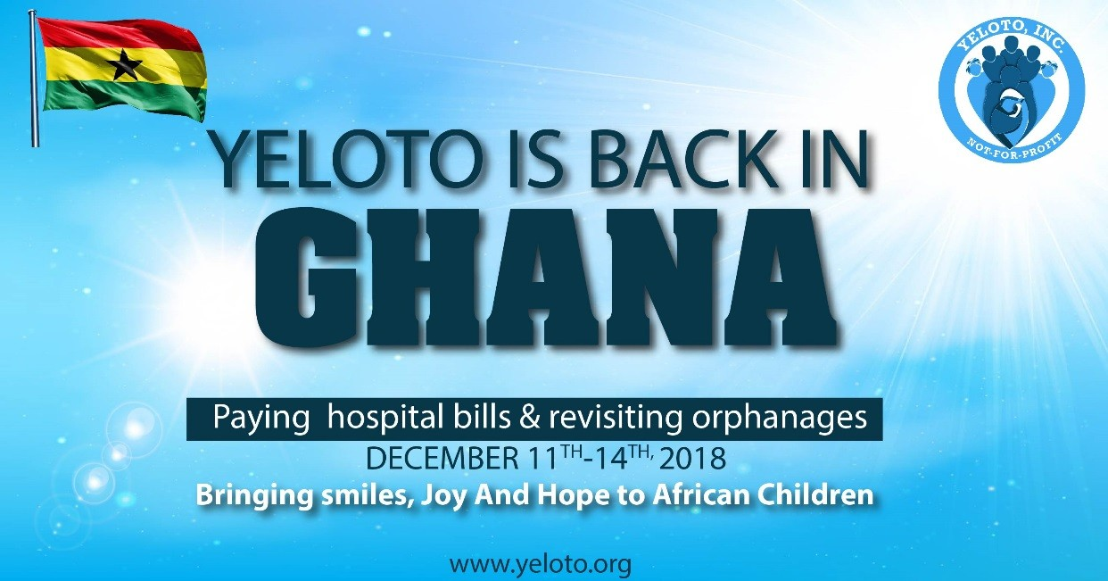 The Yeloto African Children Foundation to visit Ghana on December 11 – 14