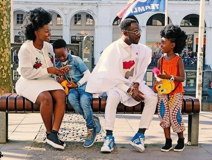 Our kids attend 3 different schools; their education not affected by showbiz - Okyeame Kwame's wife