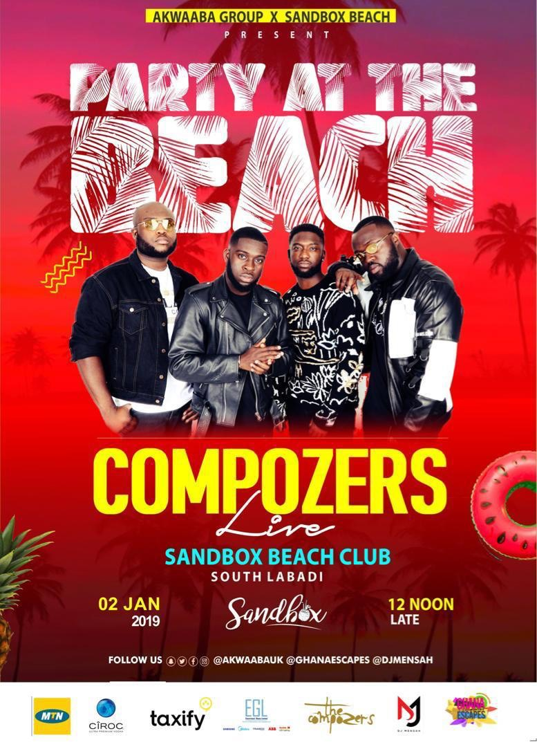 The Compozers Live in Ghana : Party at the Beach 2019