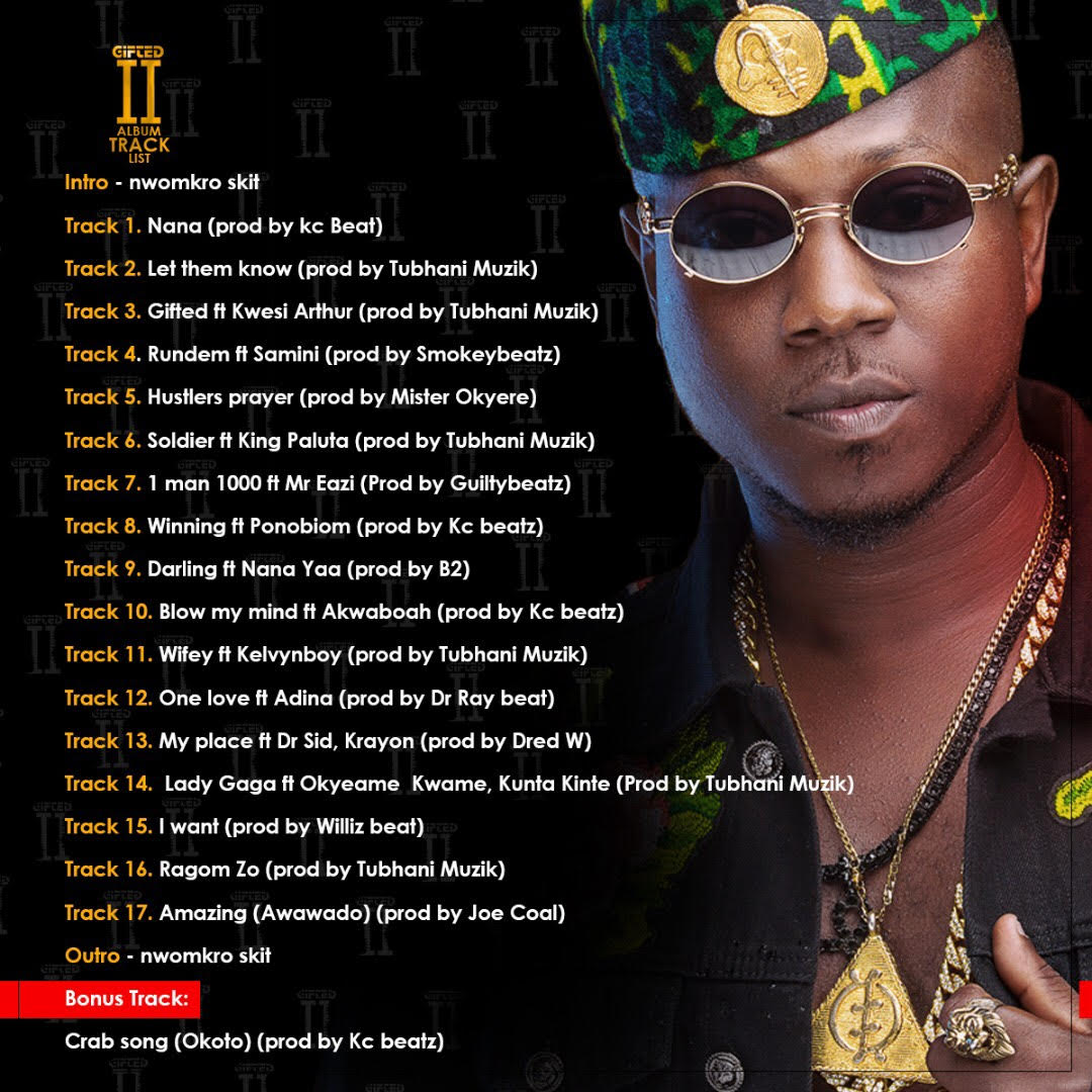 Flowking Stone unveils track list for 'The Gifted' album art