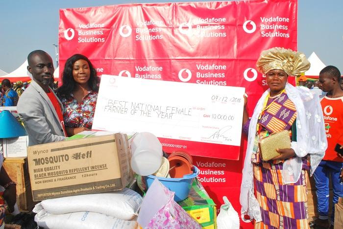 Vodafone congratulates best female farmer
