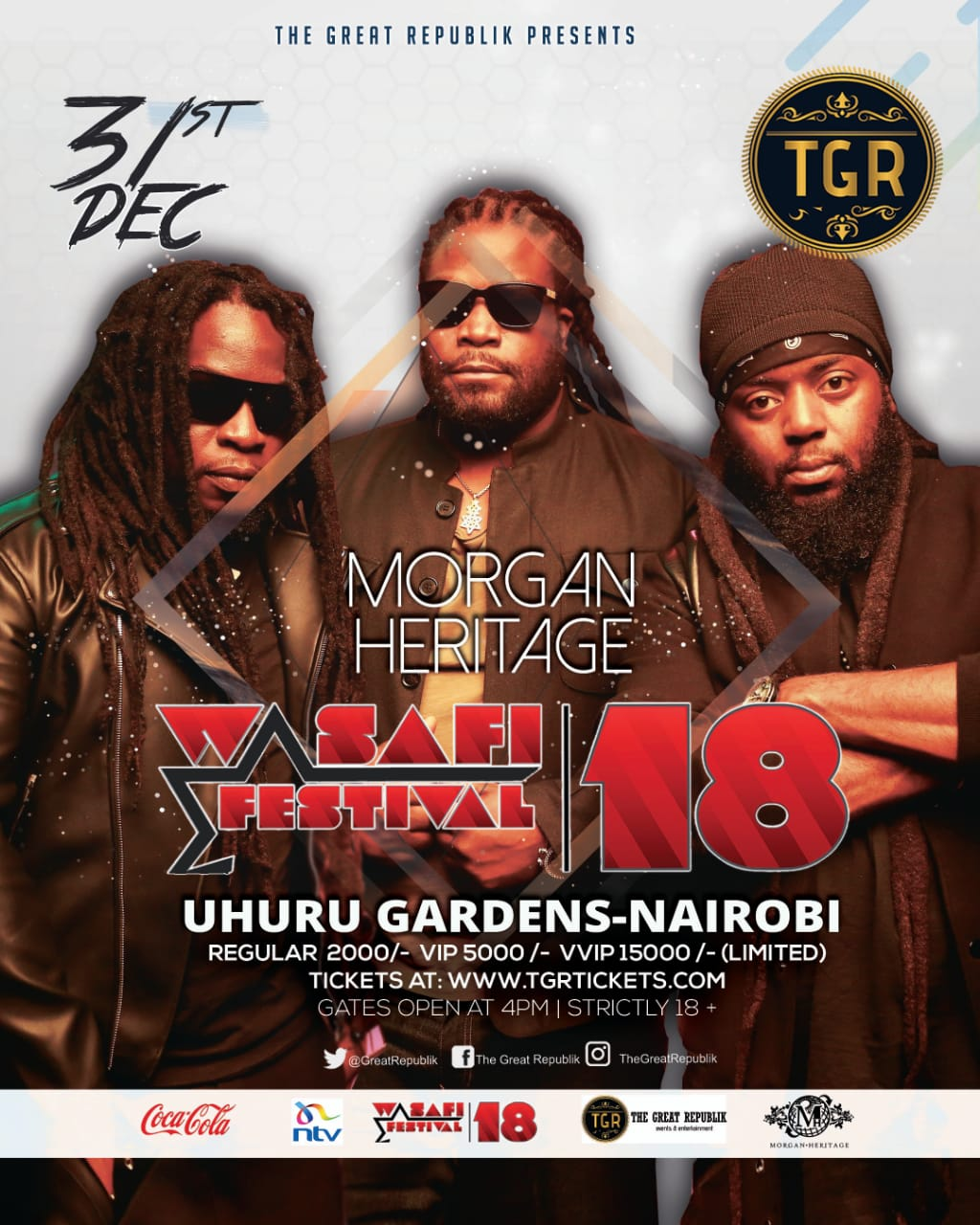 Morgan Heritage to perform at Wasafi Festival in Kenya on December 31st