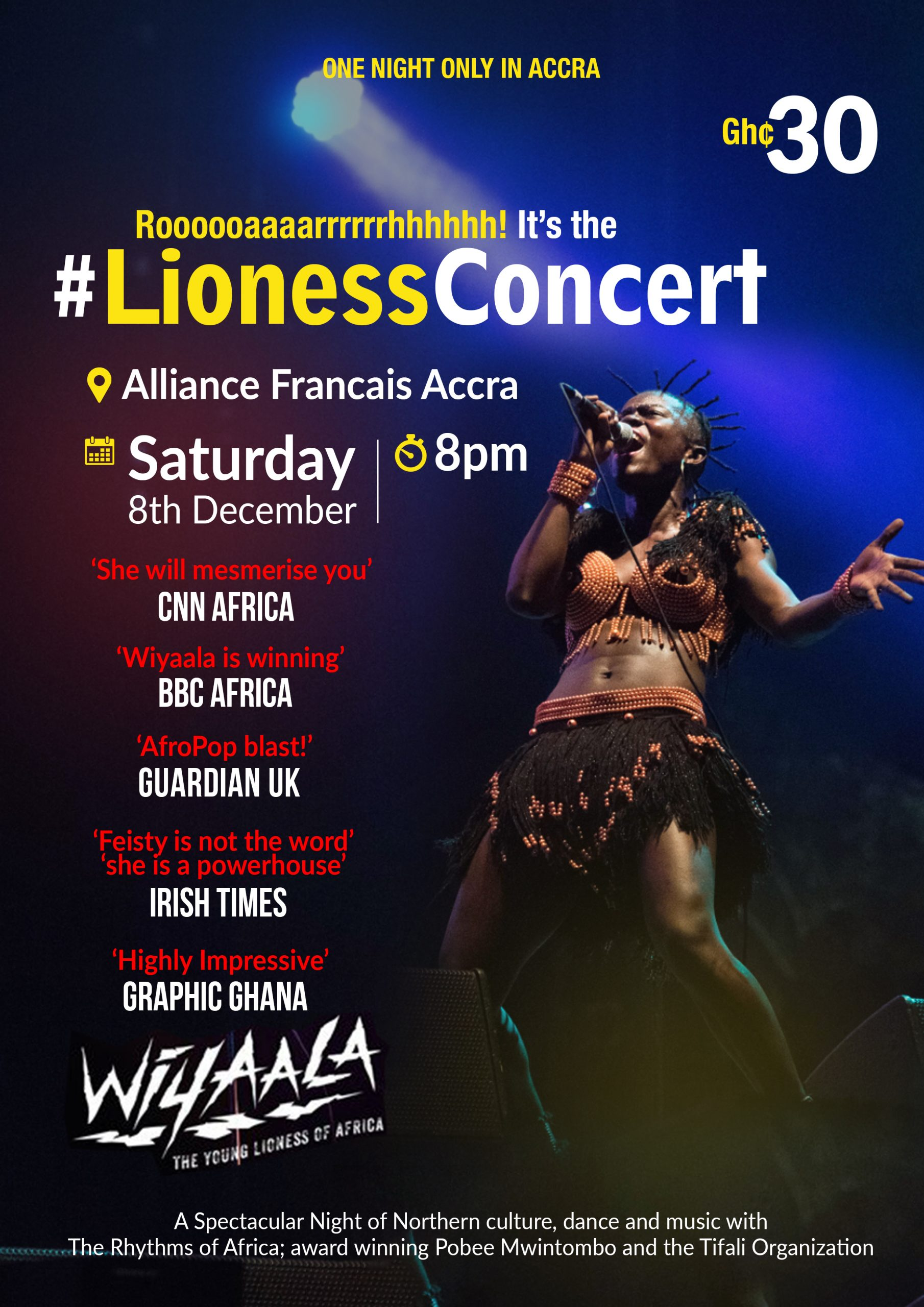 """Wiyaala to Perform With """"Legend"""" At Lioness Concert"""