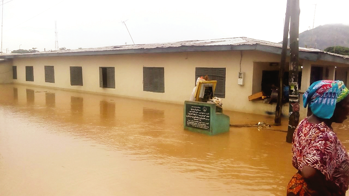Rain causes floods in Koforidua