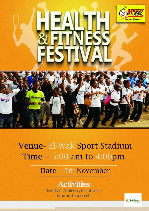 HAPPY FM TO LAUNCH HEALTH AND FITNESS FESTIVAL ON WEDNESDAY
