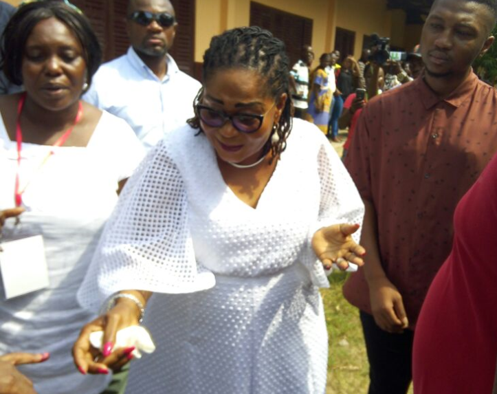PHOTOS: First Lady Lordina Mahama Casts Her Vote