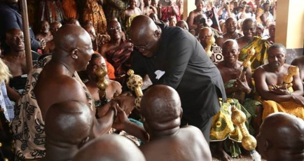 PHOTOS: Nana Addo storms Kumasi to thank Otumfuo, Asanteman