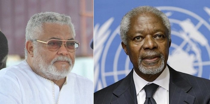 Rawlings, Kofi Annan urge voters- Uphold Ghana's democracy on December 7