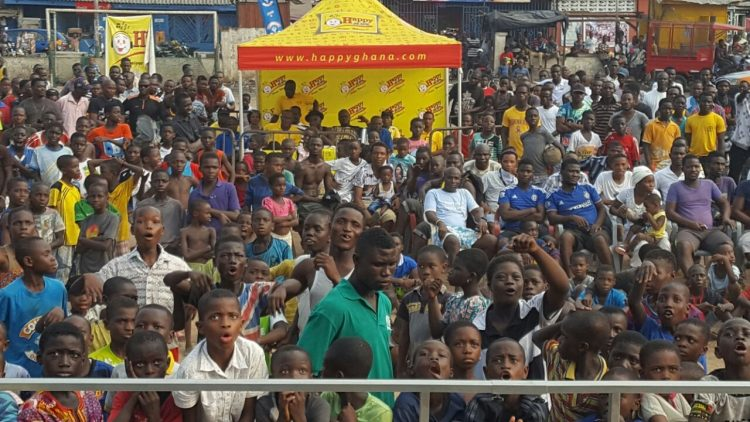 Hundreds Storm Bukom Square for Happy FM-Cowbell AFCON Coverage