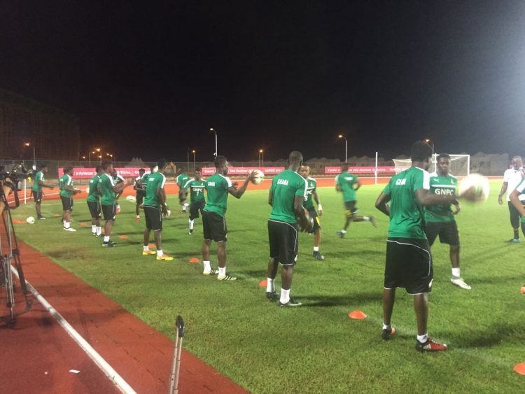 PHOTOS: Black Stars Hold First Training In Port Gentil Ahead Of Crunch Group Opener