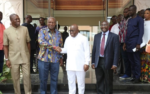 President-elect Nana Addo visits Flagstaff house