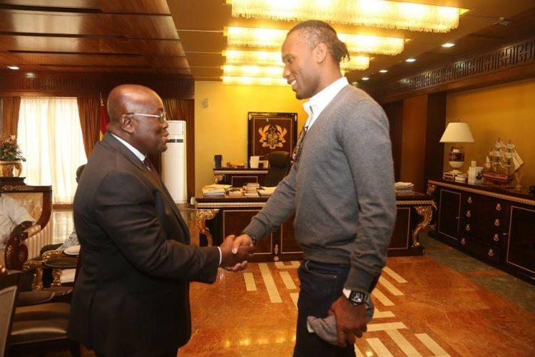Didier Drogba Pays Surprise Visit To Nana Akufo-Addo