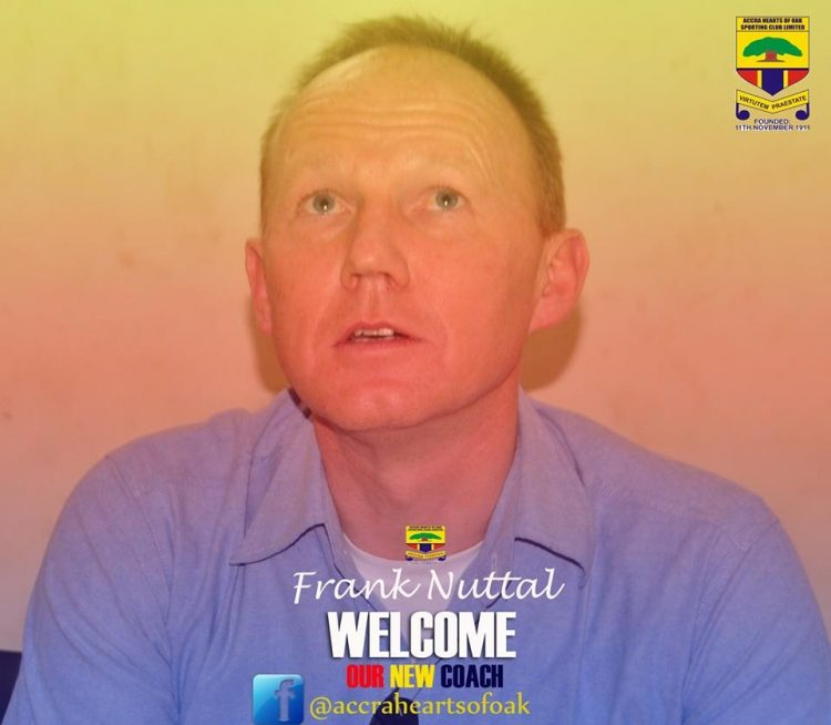 Hearts of Oak sign Frank Nuttal on two-year deal