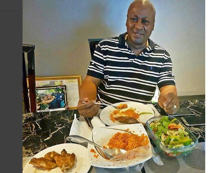 Mahama wades into 'Ghana-Naija jollof' conversation; praises Lordina