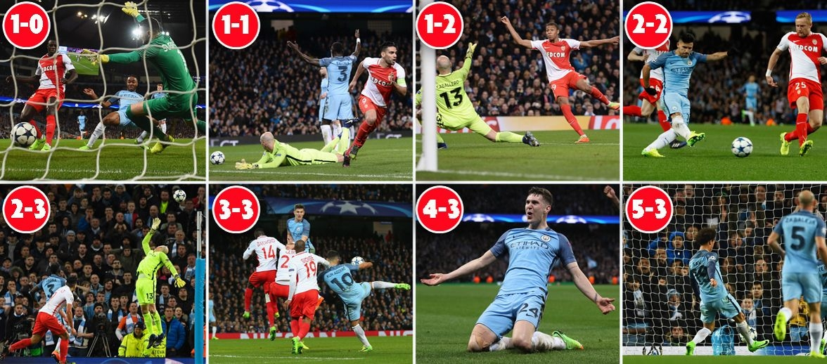 Pep Guardiola continues to throw the dice as Manchester City and Monaco serve up remarkable clash