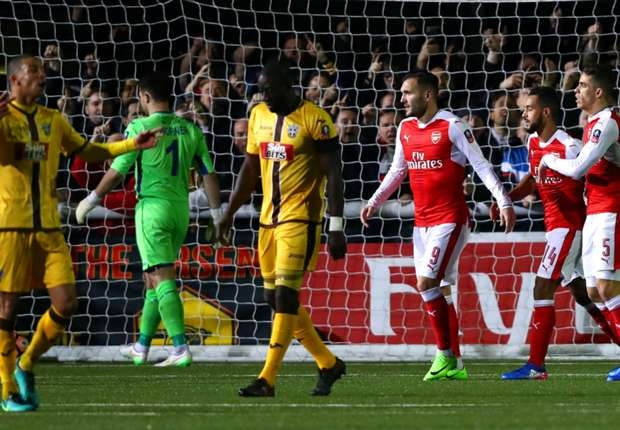 Ghanaian duo Amankwaah, Hudson-Odoi star for Sutton United despite FA Cup loss to Arsenal
