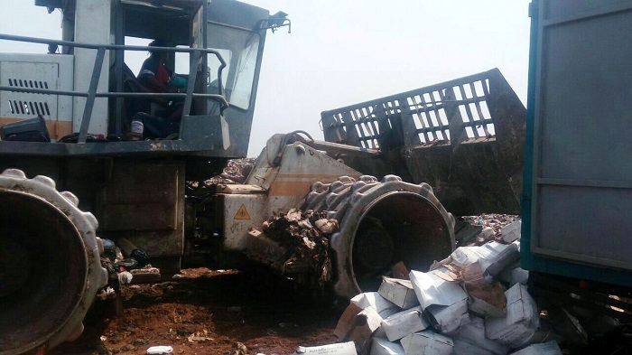 1,300 cartons of unwholesome tilapia destroyed at Kpone