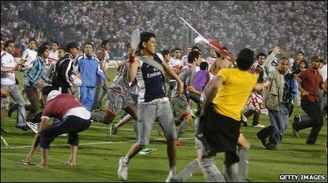 Ten sentenced to death over Egypt football riot
