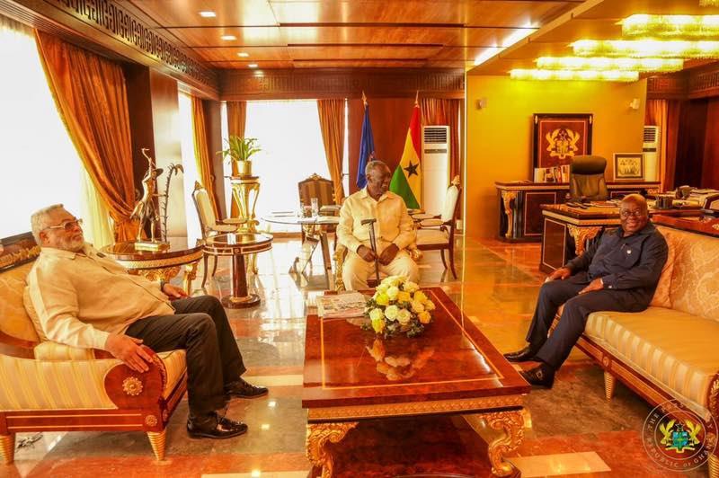 VIDEO: Watch what transpired as the three Johns met Prez Nana Addo
