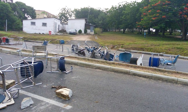University of Education students go on the rampage