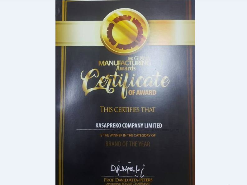 Alomo Bitters named Brand of the Year at Ghana Manufacturing Awards