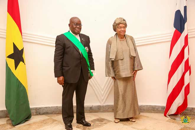 PHOTOS: Liberia decorates Akufo-Addo with national award
