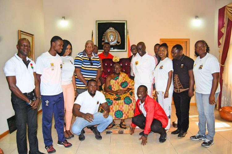 Ghana Fastest Human team visit Otumfour as Kumasi championship explodes today