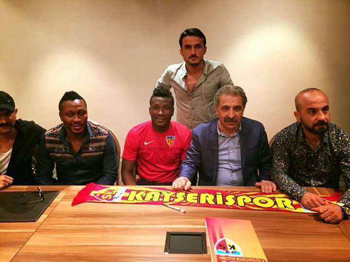 DONE DEAL: Asamoah Gyan Joins Turkish side Kayserispor on two-year deal