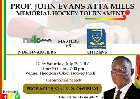 Atta Mills Memorial Hockey Tournament Slated For Saturday July 29