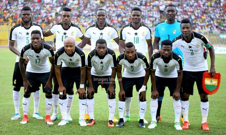 Ghana Black Stars Drops on latest FIFA Ranking