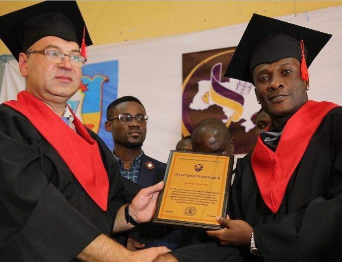 Asamoah Gyan honoured with Doctorate Degree