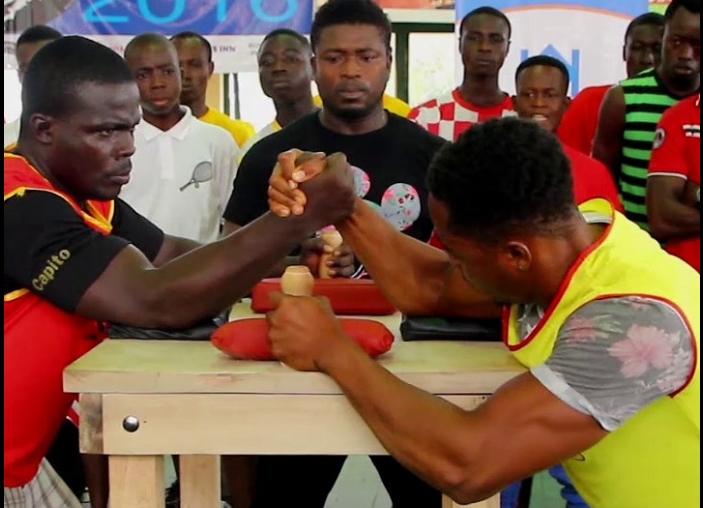 VODAFONE CASH, RUSH ENERGY SUPPORT ARMWRESTLING KNUST CAMPUS RUMBLE