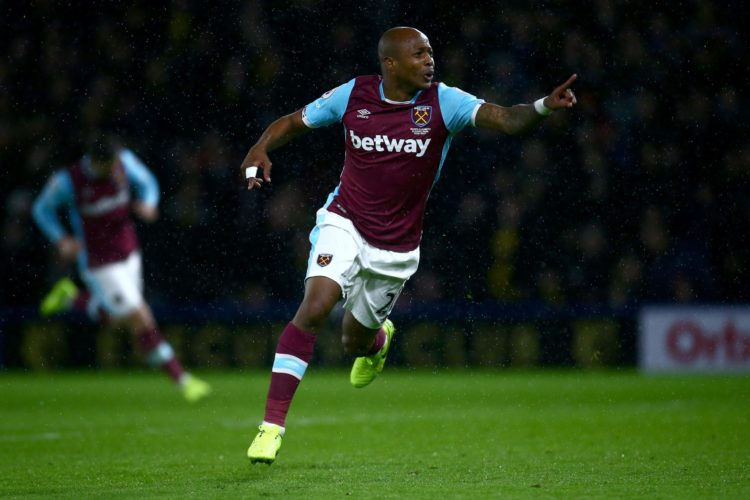 Andre Ayew helps West Ham beat in form Tottenham Hotspur