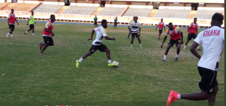 PHOTOS: Black Stars train with 16 players in Kenya