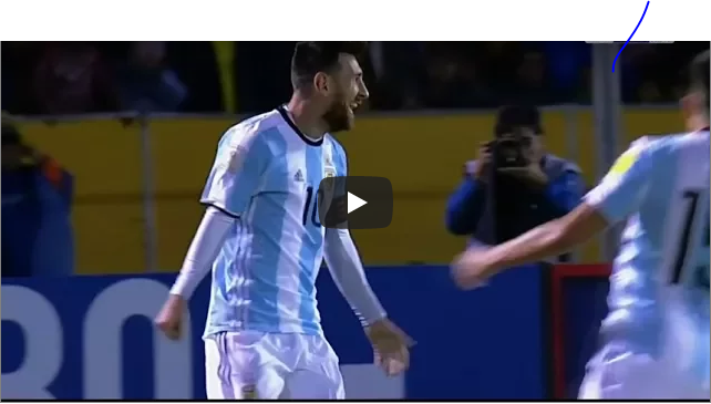 VIDEO: Watch Messi's Magical Hat-trick That Took Argentina To The World Cup