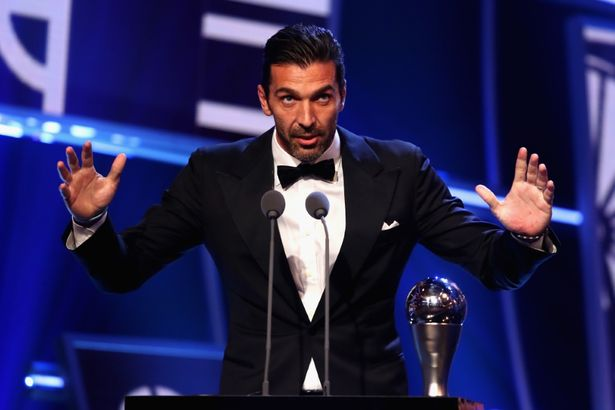Emotional Gianluigi Buffon Picks Up The Best Goalkeeper Award