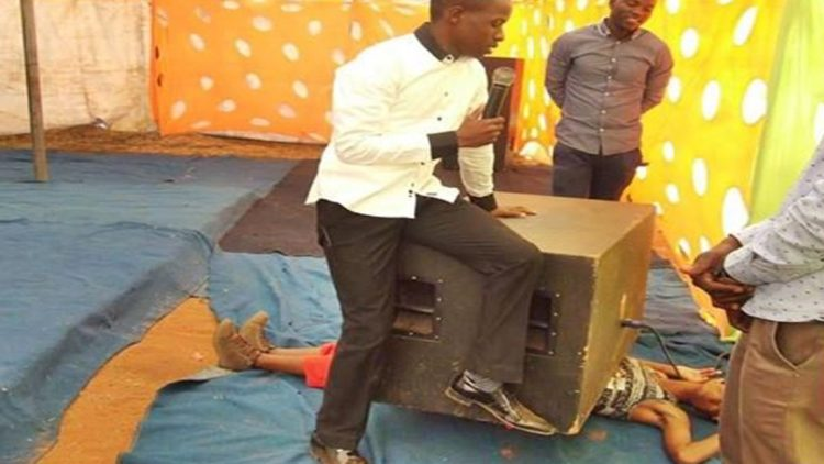 Pastor Kills Lady By Putting Large Speaker On Her Chest And Dancing On Top Of It As Part Of A Miracle