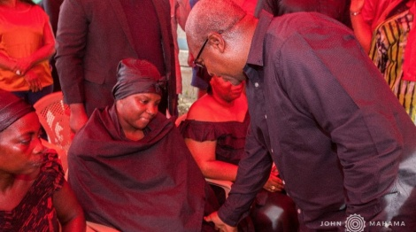 Mahama visits KABA's widow