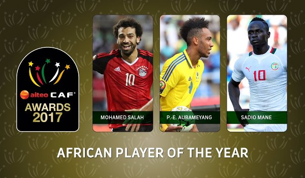 Salah, Mane and Aubameyang vie for Caf Player of the Year award
