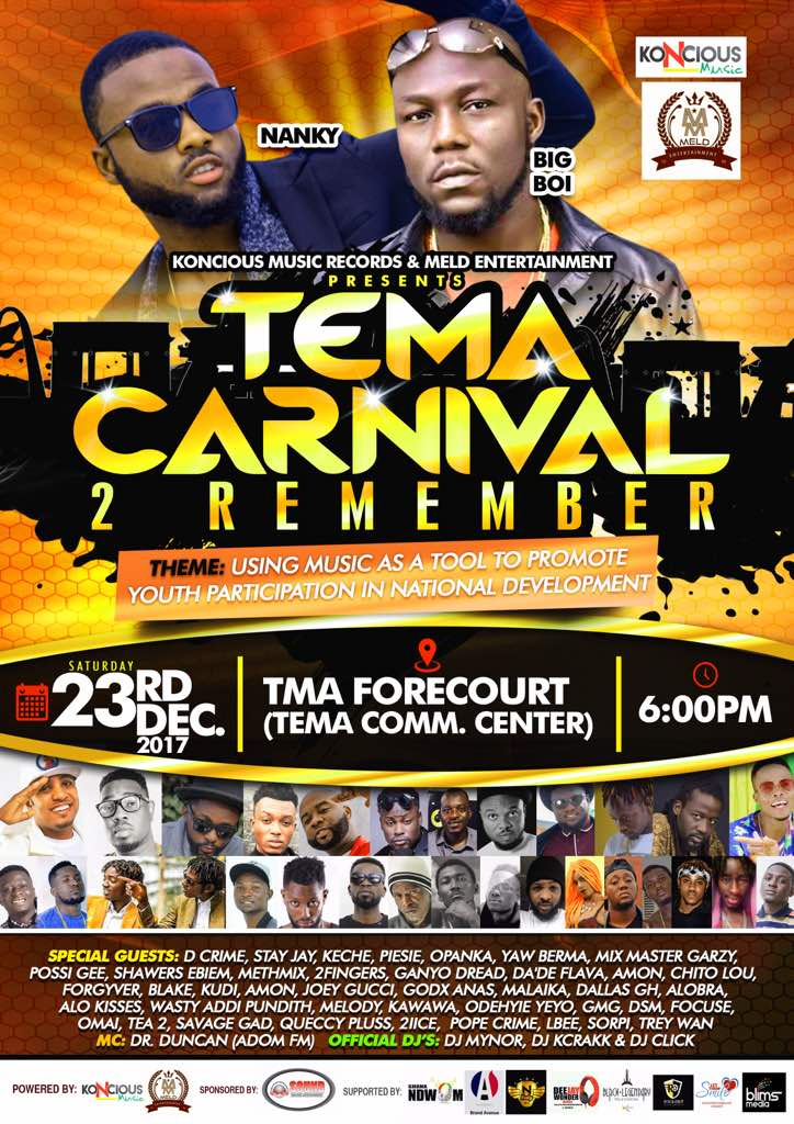 Sensational rapper Bigboi to headline Tema carnival 2 remember
