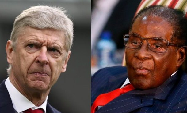 BIZZARE! Arsenal Supporters Compare Manager Arsene Wenger To Robert Mugabe