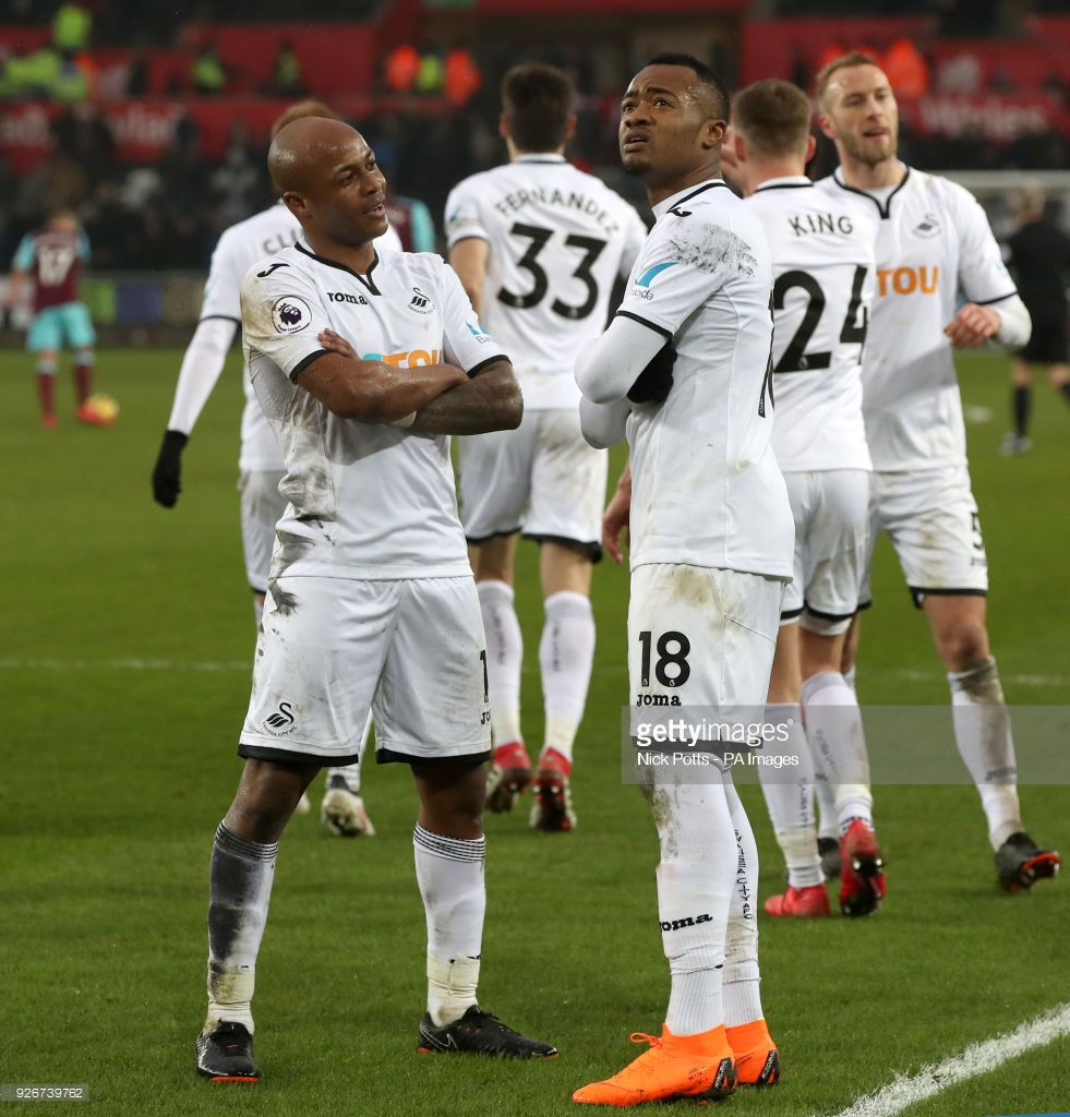 Jordan Ayew Nets Sixth League Goal as Swansea City Thump West Ham United
