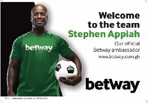 Stephen Appiah Grateful To Betway For Inaugural Betway Stephen Appiah Cup