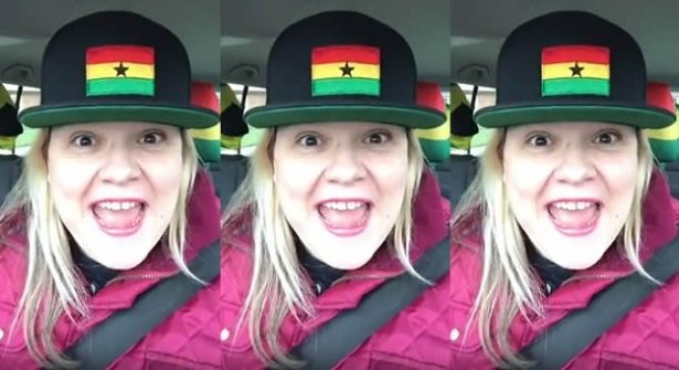 VIDEO: White Lady Goes 'Mad' Over Shatta Wale's Freedom Song