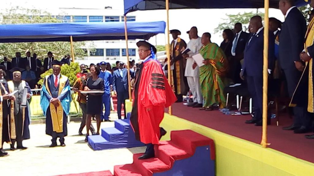 CAF chief Ahmad conferred Honorary Doctorate Degree in Law by the UPSA