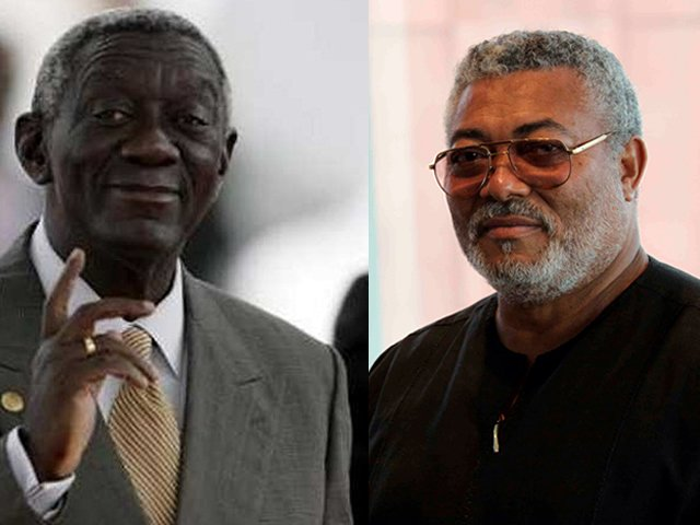 Kufuor hits back at Rawlings; only God decides who goes to heaven