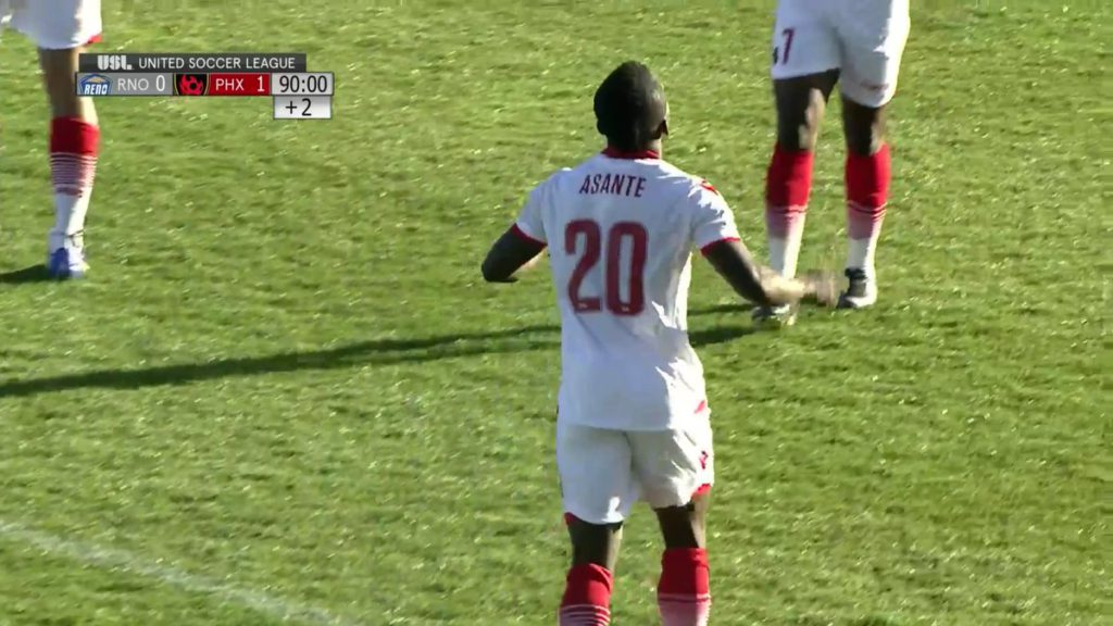 VIDEO: Watch Solomon Asante's Ronaldo-esque back pass for Phoenix Rising in USL