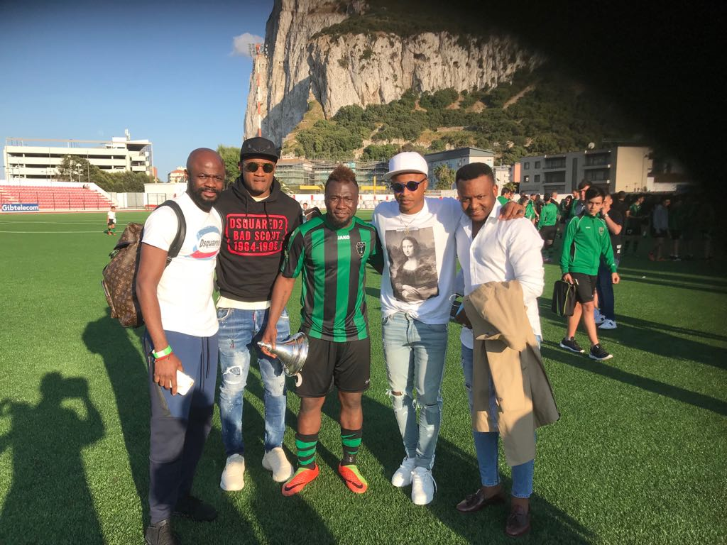 Ghana duo Andre, Jordan Ayew fly over to Gibraltar to support brother Rahim win Cup final