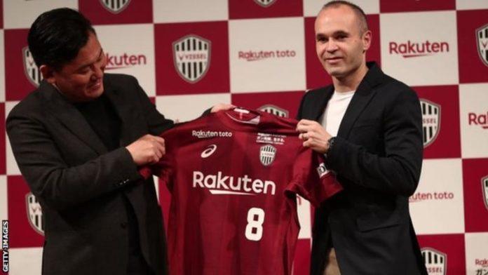 Barcelona Andres Iniesta Barcelona legend joins Japanese side Vissel Kobe