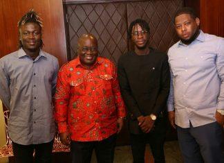 D Black, Wisa & DJ Breezy Visit President Akufo-Addo